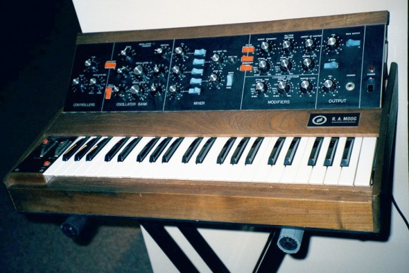 Minimoog Model D, Mark Vails liebster Synth aller Zeiten (Foto: Mark Vail)