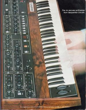 Sequential Circuits Prophet-5 Anzeige, Oktober 1979