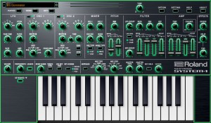 Roland SYSTEM-1 als Software-Variante