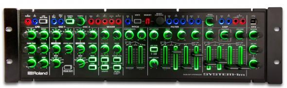 Roland System-1m: Übersichtlich, aber ziemlich hell beleuchtet