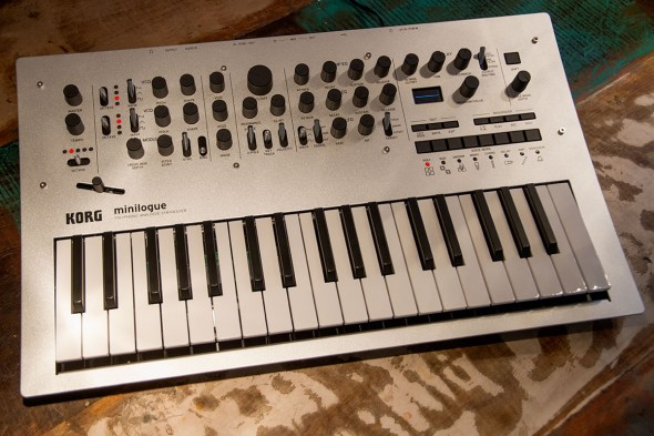 Korg minilogue in unserem Teststudio