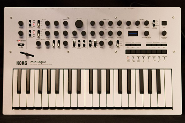 Korg minilogue Test: Draufsicht
