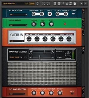 Schritt 4: Einstellungen in Guitar Rig für einen Leadsound (Foto: KeyboardMag.com)