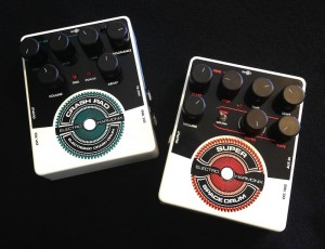 Electro-Harmonix Crash Pad Test: Beide vereinet: Crash Pad und Super Space Drum.