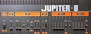 Für viele immer noch ein tolles Logodesign: der kraftvolle Jupiter-8-Schriftzug.