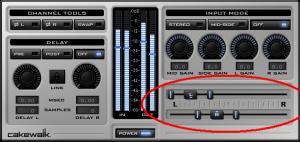 """Abb.2: Das Channel Tools-Plugin von Sonar hat Slider, mit denen man den """"Winkel"""" und die Bandbreite eines linken und rechten Kanals in einem Stereo-Signal bestimmen kann."""