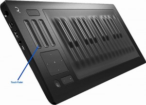 ROLI Seaboard RISE 49 Test: Touch-Fader und das X-Y-Pad.