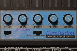 Envelope-Kurve einer Novation BassStation
