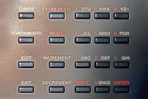 Roland D-05 Test Nummernfeld