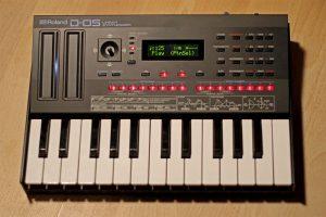Roland D-05 Test mit Tastatur