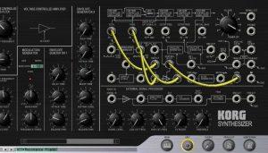 Korg MS-20-Plug-in im Edit-Modus