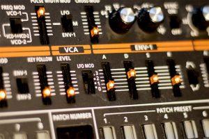 Synthesizer-Bedienoberfläeche