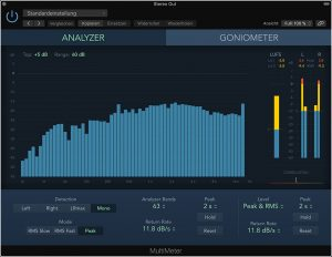 Terzband-Analyzer Synthesizer-Mixdown