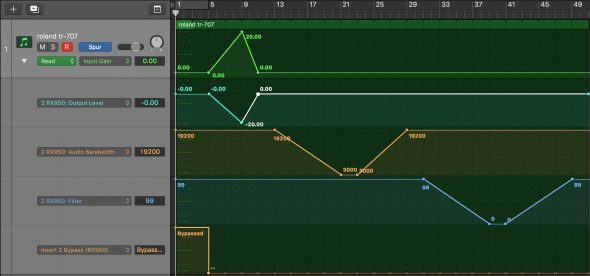 RX950 Automation in Logic Pro X