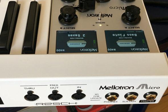 Mellotron Micro Anschlüsse