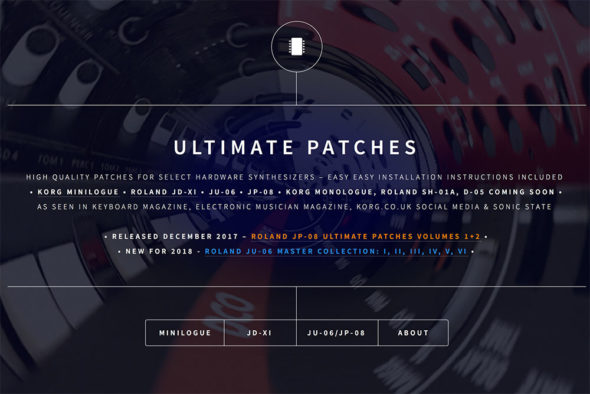 Website-Screenshot Ultimate Patches