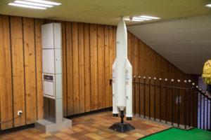 Modell einer Ariane-5-Rakete im FEZ Berlin bei der Superbooth 2018