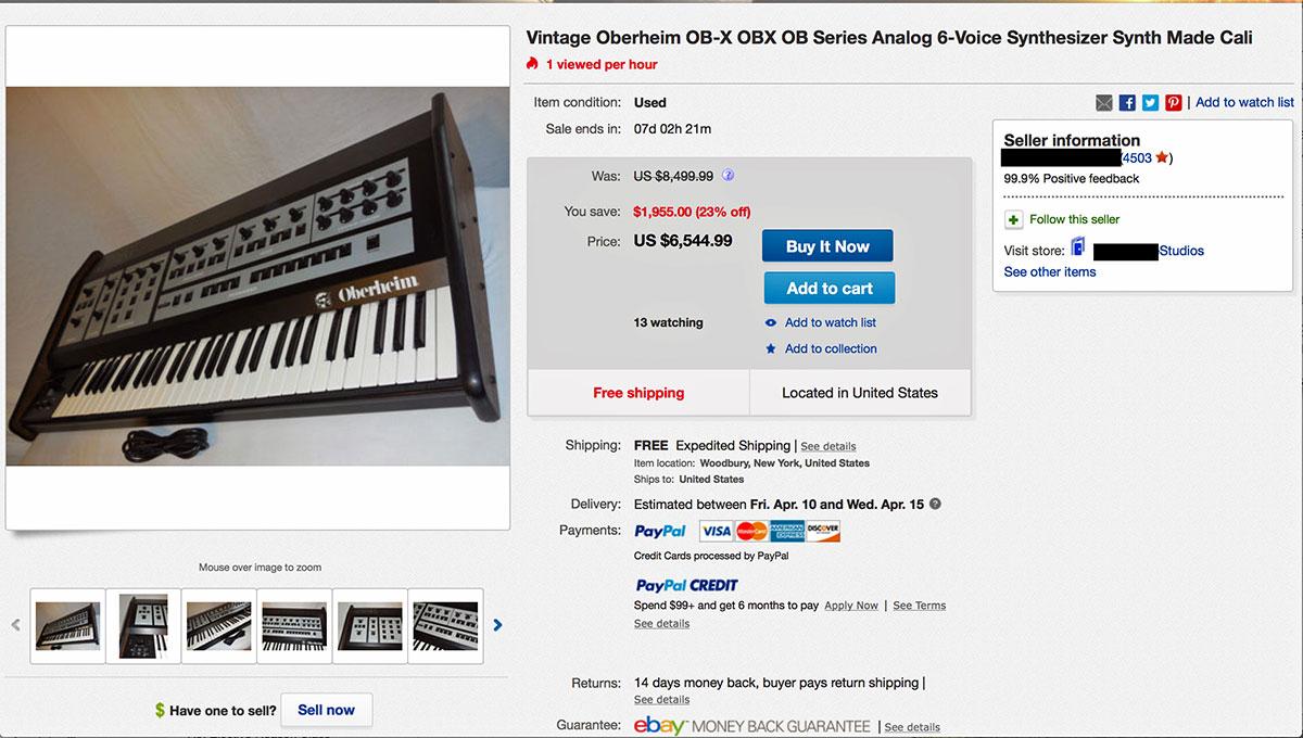 Kann schnell ganz schön teuer werden: Oberheim OB-X auf eBay