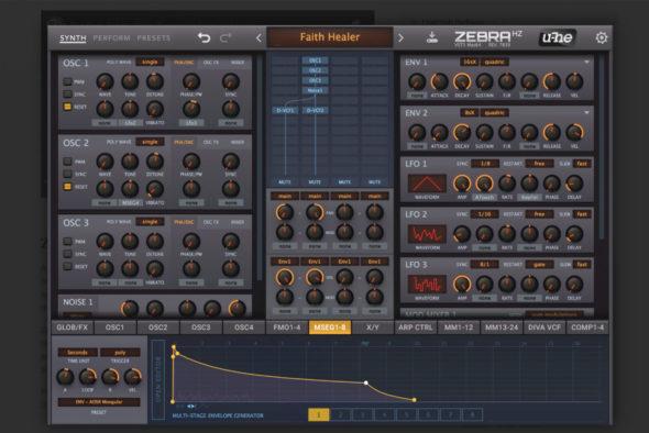 U-He ZebraHz 2.8, Screenshot: U-He Webseite