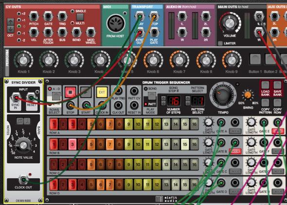 Der Voltage Modular Synthesizer lässt sich mit der DAW synchronisieren