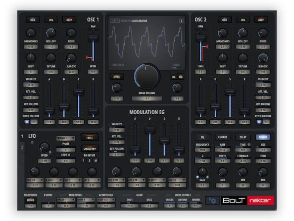 Neuer Software Synthesizer: Nektar Bolt
