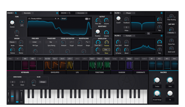 Wavetable plus Virtual analog: Arturia Pigm Synthesizerents
