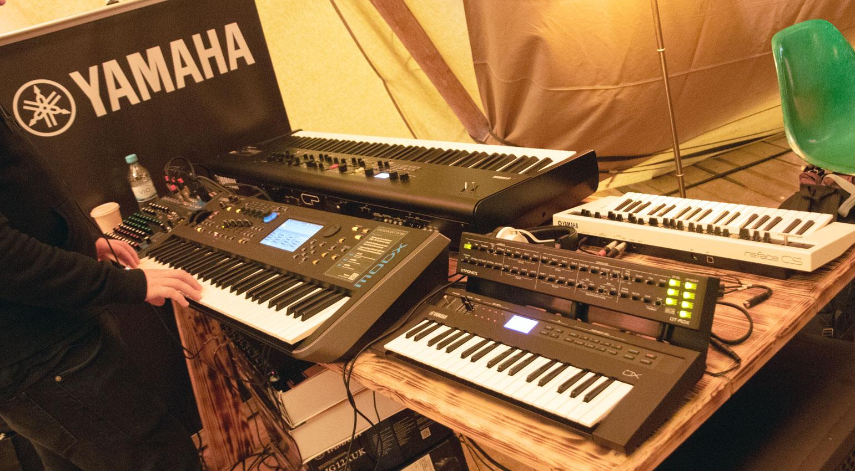 Yamaha-Stand mit dem neuen MODX