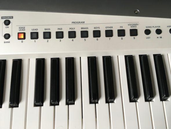 Roland AX-Edge Die Kategorien