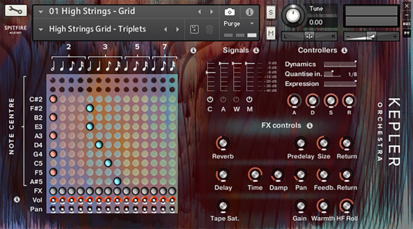 Spitfire Audio Kepler Orchestra Systems Grid