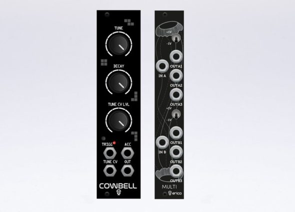 Erica Synth Cowbell und Black Multi