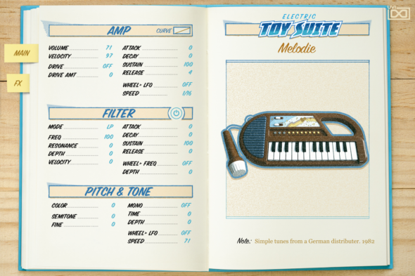 TOY SUITE GUI Electric Melodie