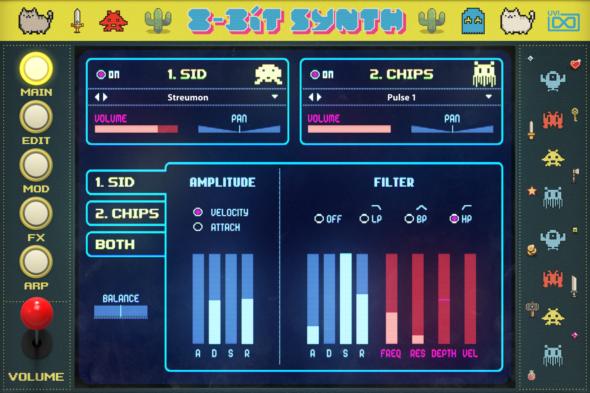 Toy Suite GUI Acoustic 8 Bit Synth MAIN